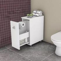 Armário Para Banheiro Com 1 Gavetão Branco - Movelbento
