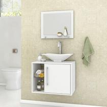 Armário para Banheiro com 1 Porta Baden Branco - Bechara -