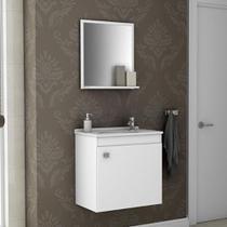 Armário para Banheiro com 1 Porta Siena Branco - Bechara -