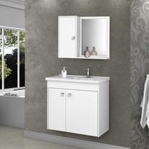 Armário para Banheiro com 3 Portas Munique Branco - Bechara -