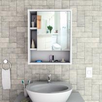 Armário para Banheiro com Espelho e 3 Prateleiras ARM5005 Slim Appunto Móveis -