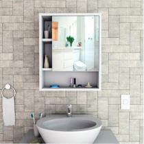 Armário para Banheiro Com Espelho Slim Branco Appunto -