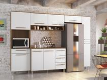Armário para Cozinha 6 Peças Carol Montana Branco - Madine Móveis -