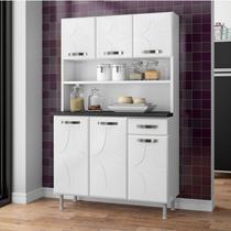 Armário para Cozinha 6 Portas 1 Gaveta Rubi Smart Telasul Branco -