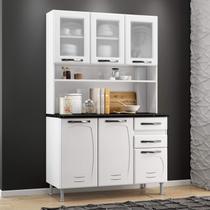 Armário para Cozinha 6 Portas 2 Gavetas Pérola Telasul Branco -