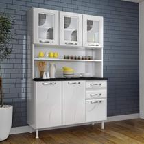 Armário para Cozinha 6 Portas 2 Gavetas Safira Telasul Branco -