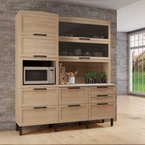 Armário para Cozinha 6 Portas 5 Gavetas Baunilha Thela Salina -