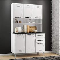 Armário para Cozinha 6 Portas Pérola Telasul Branco -