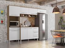 Armário para Cozinha Carol 4 Peças Montana Branco - Madine Móveis -