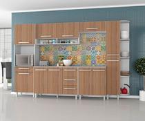 Armário para Cozinha  Carol 7 Peças Branco Montana  - Madine Móveis -