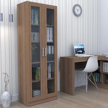 Armário Para escritório Com Portas De Vidro - Castanho   - Appunto -