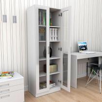 Armário para Escritório com Portas de Vidro Office Plus - Appunto - Branco -