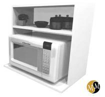 Armário suporte microondas nicho cozinha decoração 100 % mdf móveis mariano -