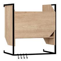 Armário Suspenso com Porta e  Ganchos 63cm 1009 Soul BE Móveis - Be mobiliário
