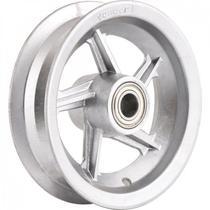 """Aro de alumínio 8"""" com rolamento para pneus 325 ou 350 Vonder Cinza -"""
