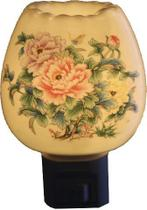 Aromatizador Elétrico Crisântemo em Porcelana - Relaxar E Meditar