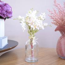 Arranjo Artificial de Flores Campo no Vaso de Vidro Delicado  Formosinha -