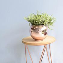 Arranjo de Folhagem Artificial no Vaso Rose Gold Pequeno Formosinha -