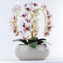 Arranjo de Orquídea Artificial Tigre em Vaso Nude - Vila Das Flores