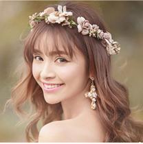 Arranjo Enfeite Cabelo Flor dourado  Noiva Debutante ensaio fotográfico - Artesanal