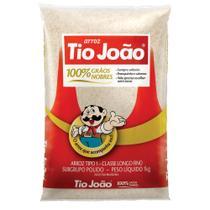 Arroz Tio João 100% Grãos Nobres - 1kg -