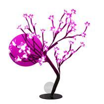 Árvore Abajur Cerejeira 48 Leds Pink Bivolt - Global