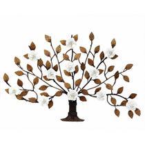 Árvore Arabesco de Flores de Ferro Artesanal Decorativo para Parede da Sala - Libertas Rosas Artesanato