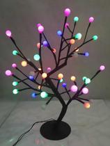 Árvore Bolinha Cerejeira Luminária 48 Leds Colorida Decoração - Coisaria