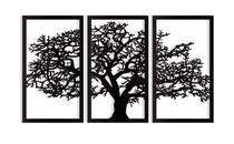 Árvore da Vida 115x65cm em Madeira Mdf Aplique de Parede - Império Das Artes