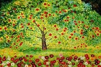 Árvore de Maçãs - Gustav Klimt - Tela 30x45 Para Quadro - Santhatela