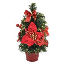 Arvore de Mesa Decorada Vermelha 31cm  Santini Christmas-567-001 - Espressione Christmas