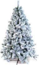 Árvore De Natal Bariloche Com Neve 826 Hastes 180Cm Verde - Cromus