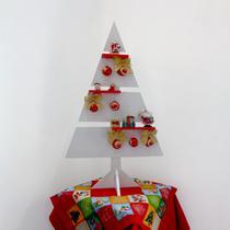Árvore de Natal Branco MDF Laca 110 cm Pinheiro Decorativa Enfeite Natalina - Formalivre