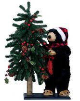 Árvore de Natal Decorada c/ Urso em Pé - 76 cm - Pm