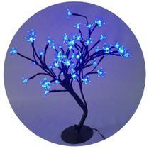 Árvore Flor De Cerejeira Azul 60 Leds Wincy - Wincy Natal