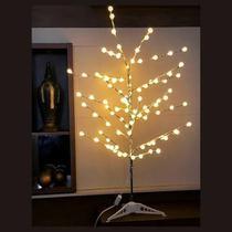 Árvore Led Decoração Luminária Bolinha Branco Quente 110v - West