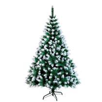 Arvore natal 180cm pinheiro verde nevado luxo 800 galhos com pé de ferro - c.o -