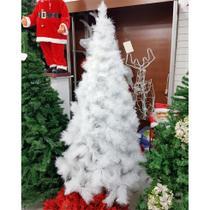 Arvore natal cactus branca luxo 180cm/336galhos centro oes - C.O