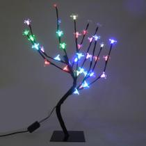 Arvore Pisca Pisca 36 Leds Cerejeira 54 cm Abajur Decoracao Luminaria Natal (89227/Colorido) - Ideal
