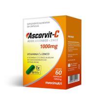 Ascorvit-C 1000mg 60 cápsulas - MaxiNutri -