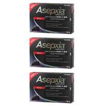 Asepxia CarvÃO Detox Sabonete 80g (Kit C/03) - Asépxia