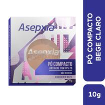 Asepxia Maquiagem Pó Compacto Antiacne Bege Claro FPS20 10g -