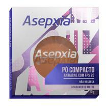 Asepxia pó compacto efeito matte cor marrom 10g -