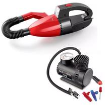Aspirador de Pó automotivo função líquido e sólido + mini Compressor encher pneu carro moto e bike Multilaser -