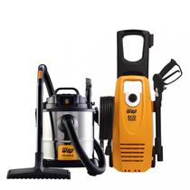 Aspirador de Pó e Água Inox e Lavadora de Alta Pressão Eco Wash 2350 1650W 127V WAP Preto/Amarelo/Inox -