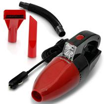 Aspirador de Pó e Líquido Automotivo Portátil 60W 12V Preto e Vermelho com LED Multilaser AU607 -