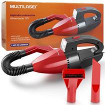 Aspirador de Pó e Líquido Automotivo Portátil Carro Mini 12V 60W Multilaser AU607 Preto/Vermelho -