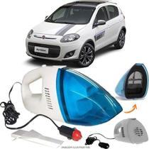 Aspirador De Pó Portátil 12v Novo Limpa Carro Fiat Palio Blue Edition - Automotivo