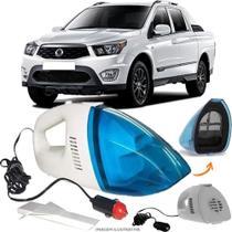 Aspirador De Pó Portátil 12v Novo Limpa Carro Ssangyong Actyon Sports - Automotivo