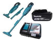 Aspirador de Po Portatil DCL180Z + Bateria 18V + Carregador Bivolt Makita -